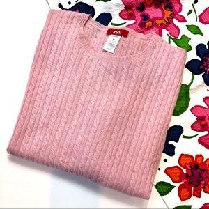 Anne Klein Sport 100% Pink Cashmere Sweater